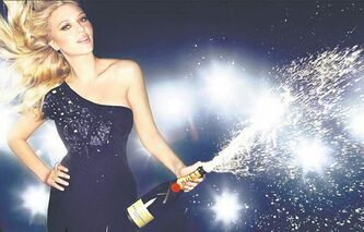 Actress Scarlett Johansson is featured in ad campaigns for Moet & Chandon. Inset, only sparkling wine made from grapes grown on the 33,000 hectares of vineyard in France's Champagne region can be called Champagne.