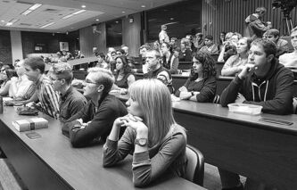 U of M law students attend a lecture in September 2012.
