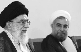 What role did Iranian Supreme Leader Ayatollah Ali Khamenei (left) play in the election of Hasan Rowhani (right) as president of Iran?
