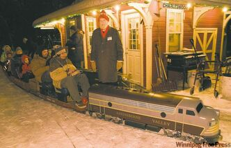After a health scare almost derailed him, Bill Taylor has his annual Christmas train ride back on track,