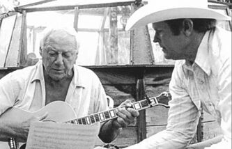 Bob Nolan (L), seen here shortly before he passed away in 1980 with Rusty Richards.