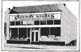 1940s Safeway on Broadway, site of present-day Pal's supermarket.