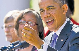 President Barack Obama gestures while speaking in the Rose Garden of the White House in Washington, Tuesday, Oct. 1, 2013, about the government shutdown. Congress plunged the nation into a partial government shutdown Tuesday as a protracted dispute over Obama�s signature health care law reached a boiling point, forcing some 800,000 federal workers off the job. (AP Photo/ Evan Vucci)