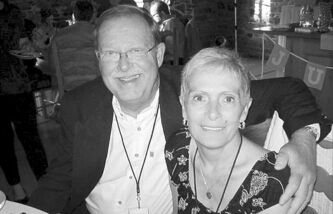 Lee Ballantyne and his wife, Carol, who recently succumbed to lung cancer.