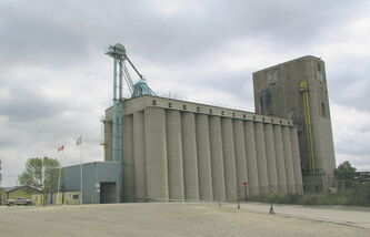 The P & H elevator in Transcona was completed in 1913 by the Canadian Pacific Railway and is still operational today.