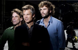 The cast of the film High Life (from left) Stephen Eric McIntyre, Timothy Olyphant and Rossif Sutherland pose for a portrait during the 2009 Toronto International Film Festival (TIFF) in Toronto.