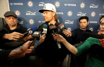 Olli Jokinen said he was pleased with the role he played on the Jets this season.