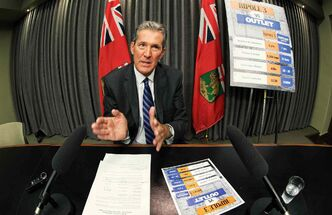 Brian Pallister said there are only up to only 30 private landowners the province needs to consult for the Lake Manitoba outlet compared to the more than 400 for the Bipole line.