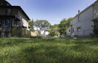 An empty lot on Boyd Avenue.