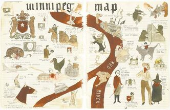 Untitled (Winnipeg Map), 2007, by Marcel Dzama