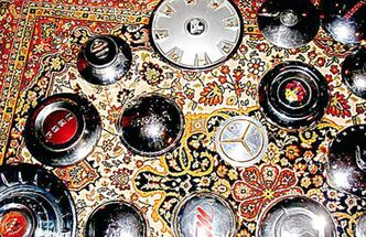 Some of Hub Cap Annie's collection.
