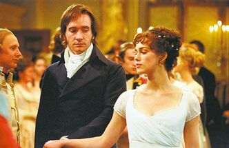 Matthew MacFayden and Keira Knightley in Pride & Prejudice.
