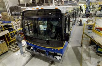 The province's manufacturing sector should help pick up the slack with an increase in sales of buses.