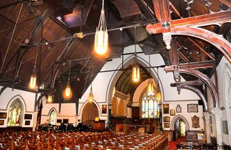 The design of the Holy Trinity Anglican Church came as the result of Winnipeg's first international architecture competition.