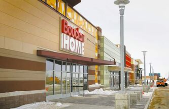 The Bouclair Home signage is in place as the Seasons of Tuxedo's tenants start setting up for business near the development's anchor retailer, IKEA.