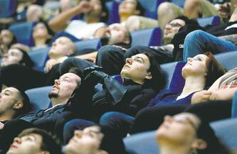 Coming soon: a well-deserved nap at a theatre near you.