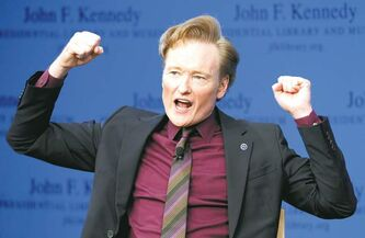 Late night talk show host Conan O'Brien