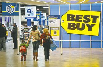 An unexpected, overall drop in U.S. electronics sales hurt Best Buy.