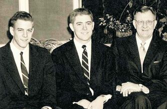 From left:  David, Charles and Fred Koch in 1955.