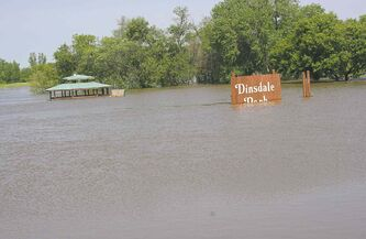 Brandon's Dinsdale Park stands inundated by flooding earlier this year that swatted western Manitoba.