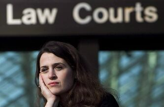 Olivia Pratten poses for a photo outside the B.C. Supreme Court in Vancouver, Wednesday, Oct. 27, 2010. The B.C. Court of Appeal has thrown out an earlier decision that sided with Pratten, a woman who wanted to know the identity of her sperm donor father.THE CANADIAN PRESS/Jonathan Hayward