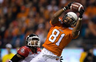 After 12 years playing for the B.C. Lions, Geroy Simon will be wearing green and white for Saskatchewan this season.