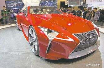 Lexus LF-LC conecpt car at last month's Toronto auto show. Lexus models topped J.D. Power's dependability index.