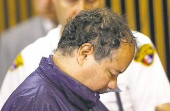 Ariel Castro appeared in a Cleveland court Thursday attempting to hide his face by tucking his chin in his collar.