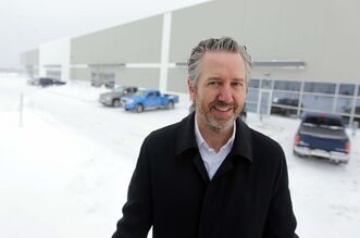 Colliers International's Gary Goodman in front of the 152,000-sq.-ft. Discovery Place Distribution Centre in the Inksbrook Industrial Park. His client, TransForce Inc., signed a deal to lease 50,000 square feet there.