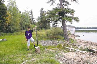 Samuel Parenteau, 15, from Duck Bay, knows the journey to a vocation and a better life begins on the shores of Egg Lake.
