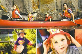 Justin Trudeau�s card features family snapshots.