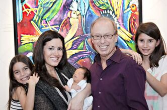 Mayor Sam Katz, his wife, Leah, and daughters Kiera, 7, and Ava, 11, welcome new son Aidan to their family in a portrait released this morning.  Aidan was born Nov. 17.
