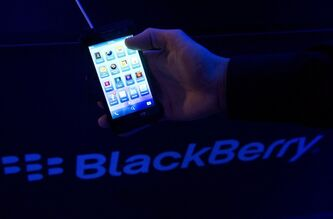 The new BlackBerry 10 smartphone is displayed during the global launch of the new BlackBerry 10 smartphones in Toronto on Wednesday, January 30, 2013. THE CANADIAN PRESS/Nathan Denette