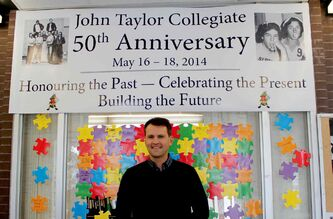 Nobel Peace Prize winner Scott Cairns returned to his old high school on Nov. 27 to talk to current students about his job destroying chemical weapons with the Organization for the Prohibition of Chemical Weapons. The talk was part of John Taylor Collegiate's 50th anniversary celebrations.