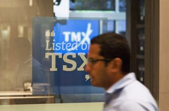 The Toronto Stock Exchange Broadcast Centre is shown in Toronto on June 28, 2013. THE CANADIAN PRESS/Aaron Vincent Elkaim