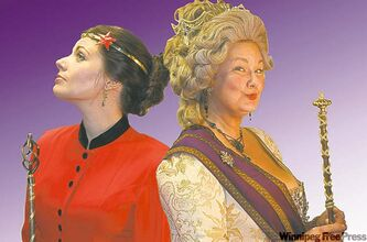 Jennifer Gottwald (left) as Annajanska and Rhonda Kennedy Rogers as Catherine.