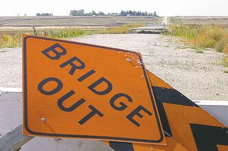 The 2011 flood washed out the Coulter Bridge on Highway 251 west of Waskada.