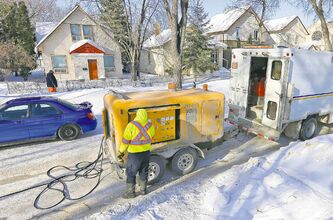 City crews have had their hands full thawing frozen pipes this winter.