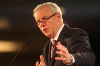 Premier Greg Selinger makes his state of the province address at the Convention Centre this afternoon, his fifth as premier.