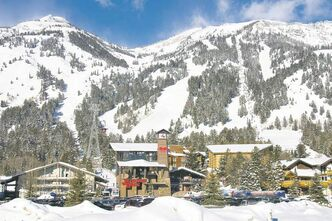 Teton Village, the hub of Jackson Hole Mountain Resort, has a cosy feel and decent assortment of accommodations.