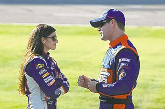 Danica Patrick and Ricky Stenhouse Jr. are officially an item.