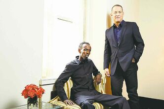 Barkhad Abdi (left, with Tom Hanks) won the role of a Somali pirate after an open audition in Minneapolis.