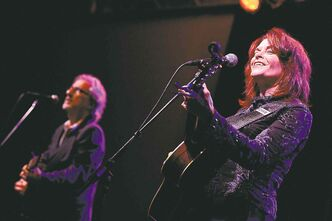 John Leventhal, left, and Rosanne Cash have been welcomed in Nashville, where songs matter more than image.