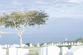 Fort Rosecrans cemetery, where admirals rest next to privates, offers one of the best views of the city.