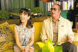 In this film image released by Sony Pictures Classics shows Sally Hawkins, left, and Andrew Dice Clay in a scene from the Woody Allen film,