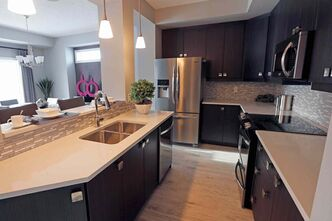 The galley kitchen is a distinct space with  style and function that are very affordable.