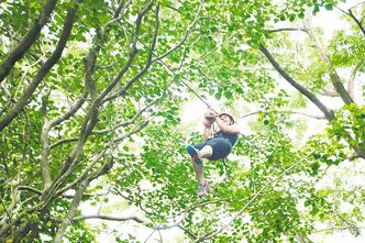 Zip-lining through the jungle in the Sierra Barahuco mountains is a popular activity for guests at Casa Bonita, an award-winning eco lodge which caters to outdoor enthusiasts who also appreciate apres-jungle luxury.