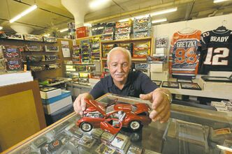 Ed Boyechko sells die-cast cars and sports  collectibles.