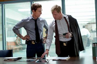 Matthew  McConaughey (left) and  Woody Harrelson in True Detective.