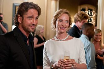 Gerard Butler and Uma Thurman in Playing For Keeps.